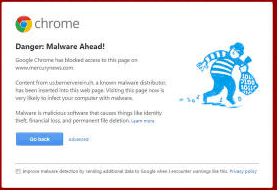 Chrome: Danger: Malware Ahead!