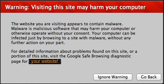 Safari   Warning: Visting this site may harm your computer
