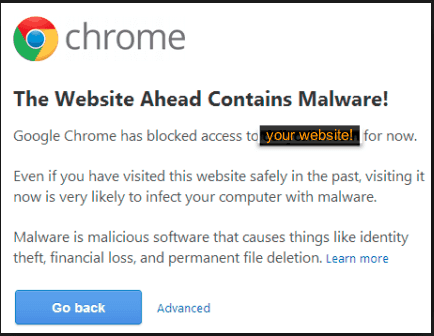 Chrome: The Website Ahead Contains Malware!