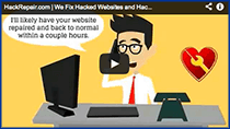 Web site hacked or web site blocked by Google?