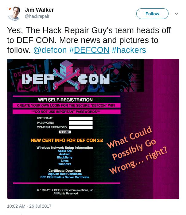 DEFCON 2017 - The Hack Repair Experience