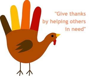 """Give thanks by helping others in need"""