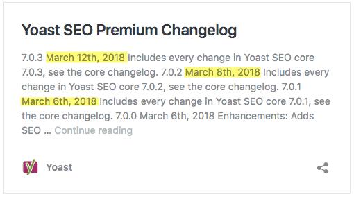 Yoast SEO Changelog