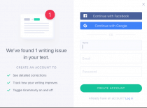 Logging into Grammarly with Facebook Login