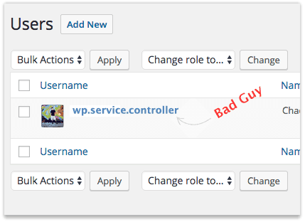 wp.service.controller WordPress User