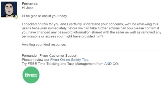 Fiverr Response