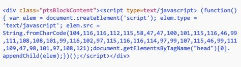 Malicious Javascript Code Sample