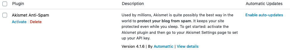 WordPress Enable Auto Updates